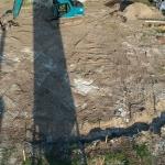 Bouwterrein opgeschoond en klaar voor de ontgraving