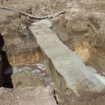 CSM-wand afgewerkt en vrijgegraven