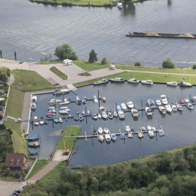 Airphoto from the harbour of Neer