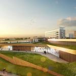 Impressie nieuwbouw sportcomplex Vie Kerkrade