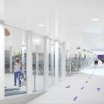 Impressie ondergrondse fietsenstallingsgarage OFOR