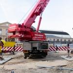 Opstarten projectlocatie aanvoer en opbouwen materieel