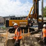 Eerste dag productie CSM-wanden op Stationsplein Zwolle