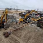 Sloop bestaande Vitalizee casino en tussentransport BodemBouw materieel