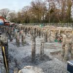 Ontgraven boouwkuip met CSM-wanden en Fundex-palen