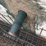 Boren kernen uit CSM-wand