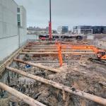Laatste fase ontgraven bouwkuip