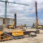 Opbouwen CSM-machines een voorbereiden terrein