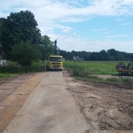 Voorbereiden aanvoerroute naar de bouwlocatie