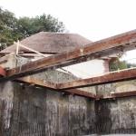 Bouwkuip met stempelraam en gestorte betonvloer