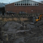 Ontgraven bouwkuip door fa. Kamphorst
