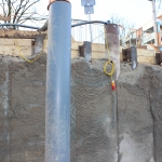 Deep-wells overzetten naar buis met pomp in de CSM-wand