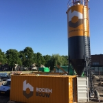 Silo en werkcontainer