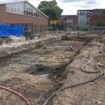 Afwerken reeds gerealiseerde CSM-wand en voorbereiden bouwterrein