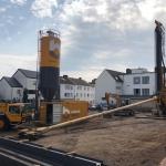 Opbouwen materieel op projectlocatie