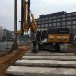 Aanvoer materieel en voorbereiden projectlocatie