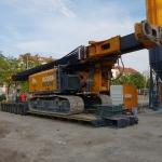 Productie CSM-wanden met twee machines