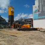 Opstelling silo en mengstation