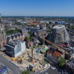 Luchtfoto bouwlocatie Grote Markt - Groningen