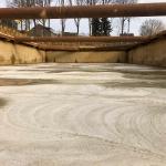 Bouwkuip met CSM-wanden en stempelraam, na storten van Onderwater Beton