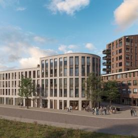 Impression newly built appartementbuilding Gonnet 22 - Gonnetstraat, Haarlem
