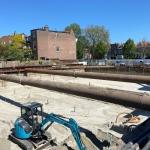 Ontgraving bouwkuip de Vierhoek - Haarlem