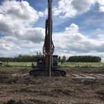 Productie kwelscherm voor een gesloten polderbouwkuip