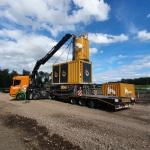 Aanvoer en opbouw BodemBouw machine en materieel