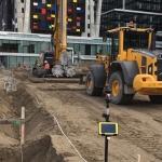 Productie CSM-wand t.p.v. Bezuidenhoutseweg op het Koningin Julianaplein te Den-Haag