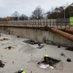 Eerste gedeelte bouwkuip ontgraven