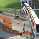 Impressie overang Strandweg Metro aan Zee