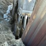 Ondergronds obstakel doorfrezen