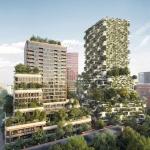 Impressie van de nieuwbouw torens Wonderwoods in Utrecht