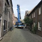 Aanvoer Bauer machine en materieel naar projectlocatie