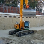 Ontgraven naar niveau groutankerrij 2