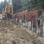 Productie CSM-wand strak naast bestaande berlinerwand