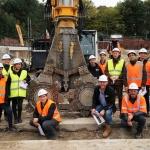 Rondleiding op bouwproject door BodemBouw Oskar de Kok en Djordy van den Eijnde voor COWI