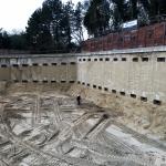 Ontgraving na uitharden en afspannen ankerrij 2