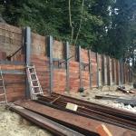 Laatste werkzaamheden voor het afronden van de renovatie van de bestaande berlinerwand