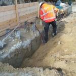 De CSM-wand afwerken zodat de betonnen deksloof direct opgestort kan worden