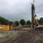 Opbouwen materieel aan de Piushaven in Tilburg