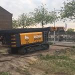 Transport en door naar het volgende project