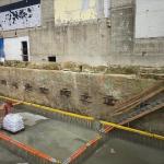 Cofferdam with CSM-walls and groundanchors all around