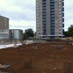 Bouwkuip ontgraven en klaar voor storten keldervloer
