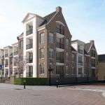 Impressie van het nieuwbouw appartementencomplex Rozenoord