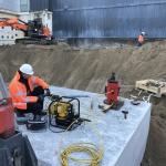 BodemBouw en H5S werken aan de fundatie van de kraanpoer
