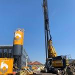 Productie CSM-wanden t.b.v. een gesloten bouwkuip